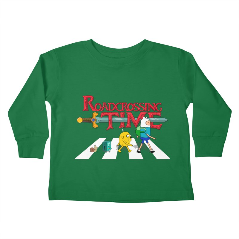 Roadcrossing time Kids Toddler Longsleeve T-Shirt by artist's Artist Shop