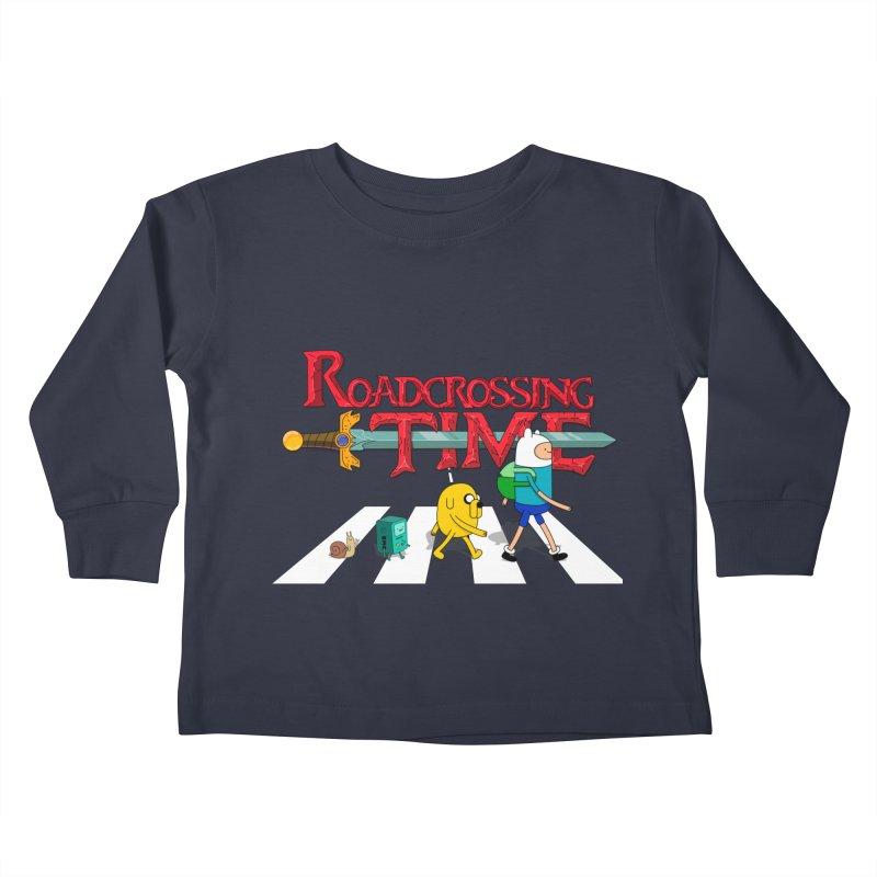 Roadcrossing time Kids Toddler Longsleeve T-Shirt by artist's Artist Shop