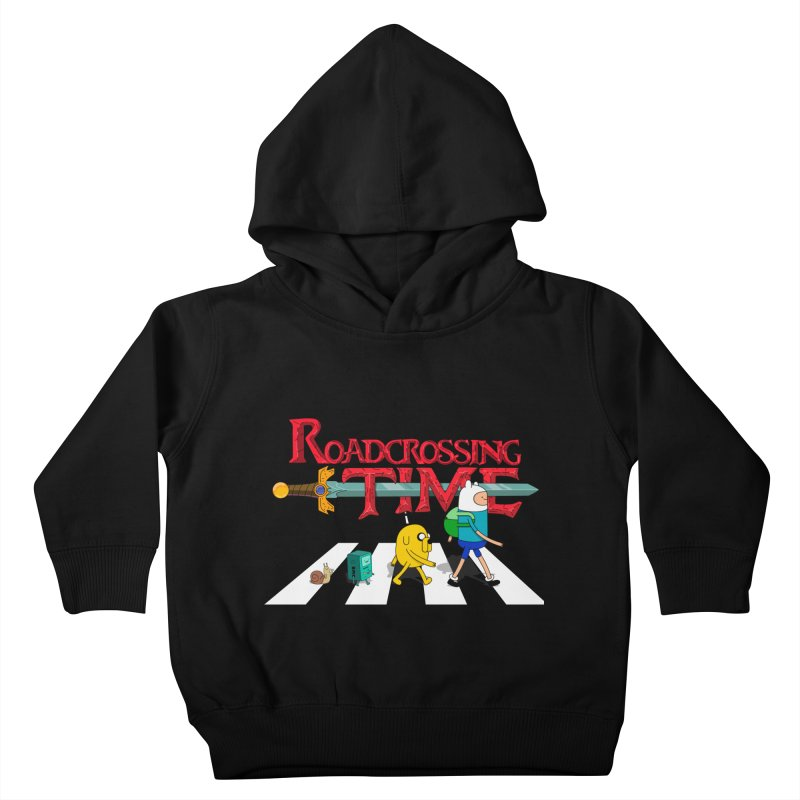Roadcrossing time Kids Toddler Pullover Hoody by artist's Artist Shop
