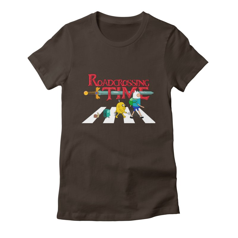 Roadcrossing time Women's Fitted T-Shirt by artist's Artist Shop