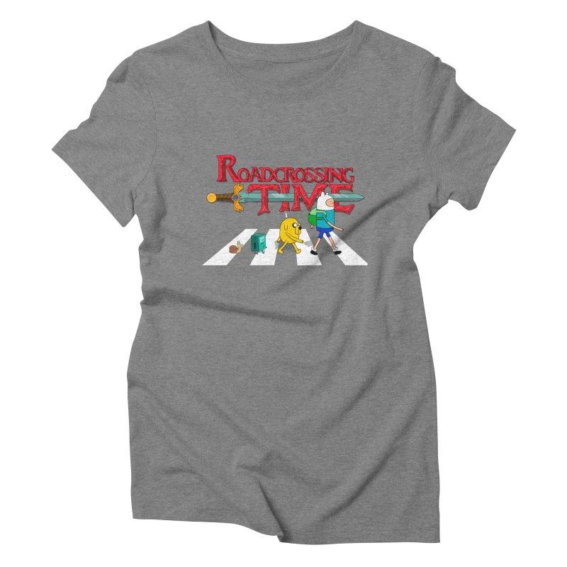 Roadcrossing time Women's Triblend T-shirt by artist's Artist Shop