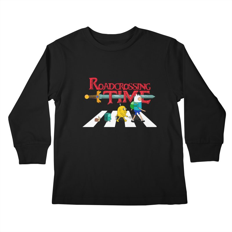 Roadcrossing time Kids Longsleeve T-Shirt by artist's Artist Shop