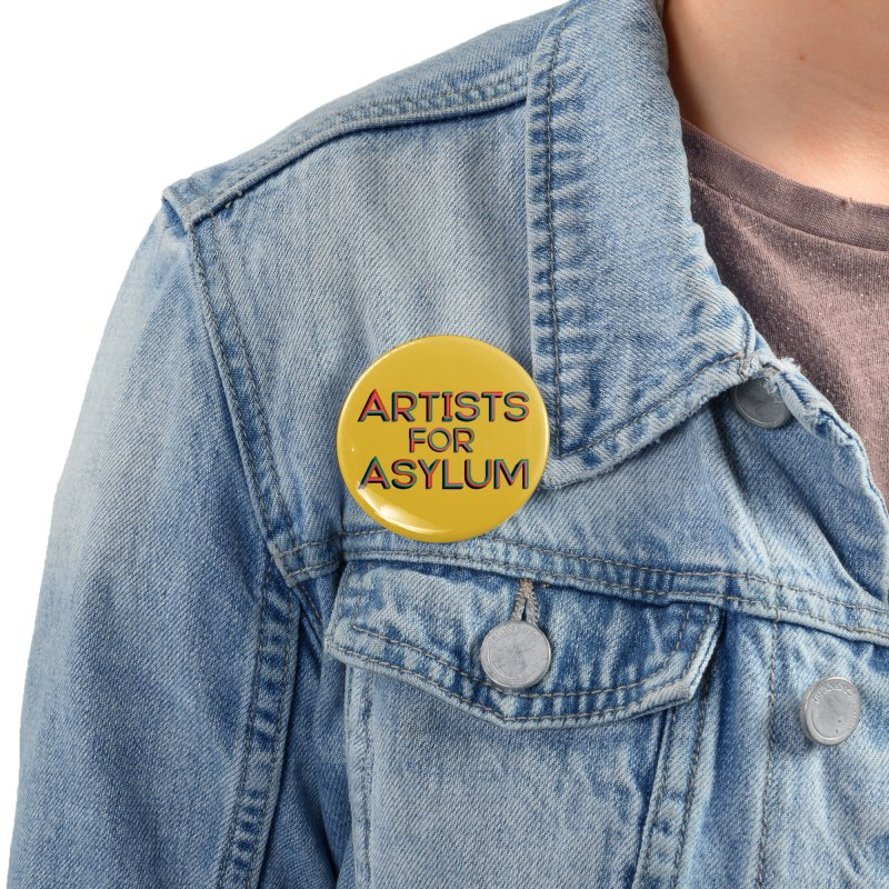 Artists For Asylum Logo Accessories Button by Artists For Asylum