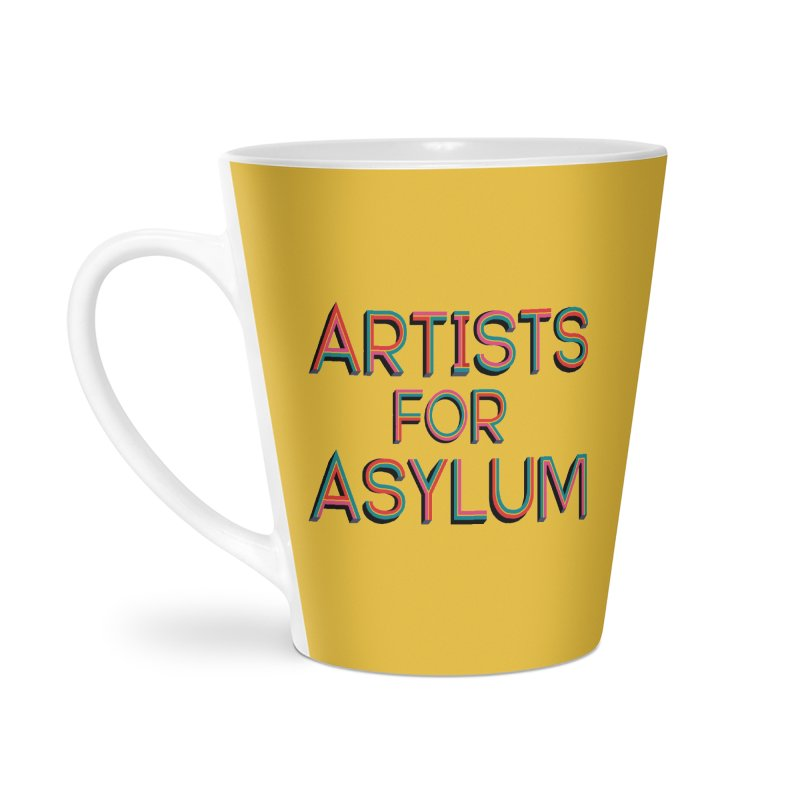 Artists For Asylum Logo Accessories Latte Mug by Artists For Asylum