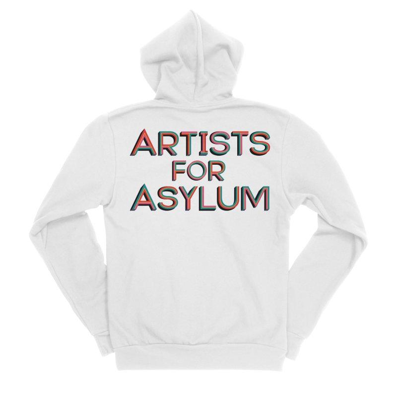 Artists For Asylum Logo Women's Sponge Fleece Zip-Up Hoody by Artists For Asylum