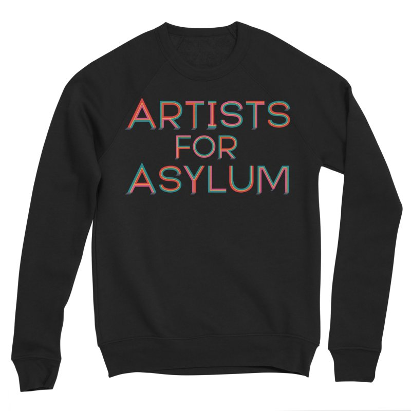 Artists For Asylum Logo Men's Sponge Fleece Sweatshirt by Artists For Asylum