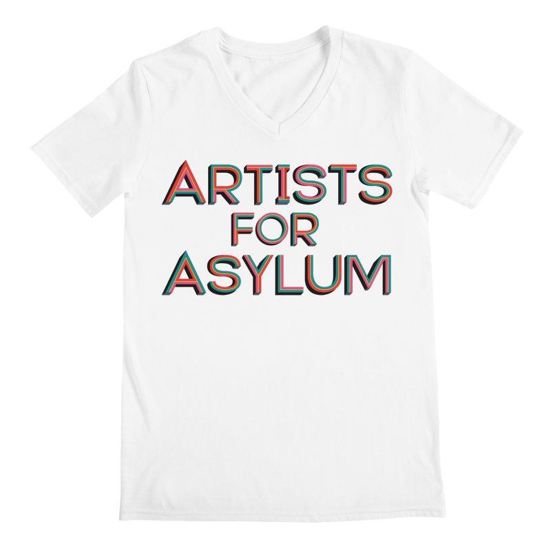 Artists For Asylum Logo Men's Regular V-Neck by Artists For Asylum