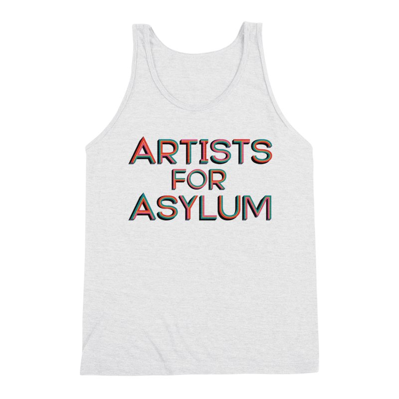Artists For Asylum Logo Men's Triblend Tank by Artists For Asylum