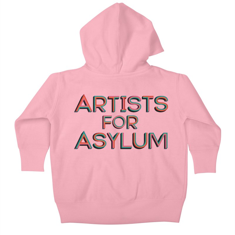 Artists For Asylum Logo Kids Baby Zip-Up Hoody by Artists For Asylum