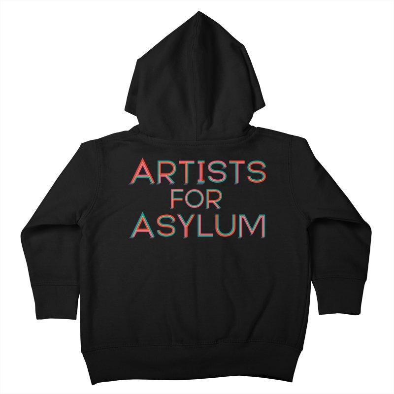 Artists For Asylum Logo Kids Toddler Zip-Up Hoody by Artists For Asylum