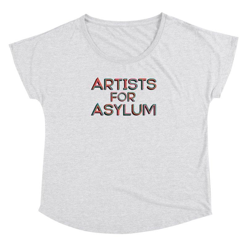 Artists For Asylum Logo Women's Dolman Scoop Neck by Artists For Asylum