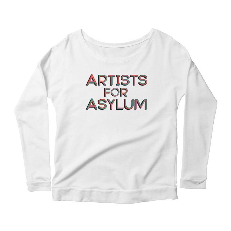 Artists For Asylum Logo Women's Scoop Neck Longsleeve T-Shirt by Artists For Asylum