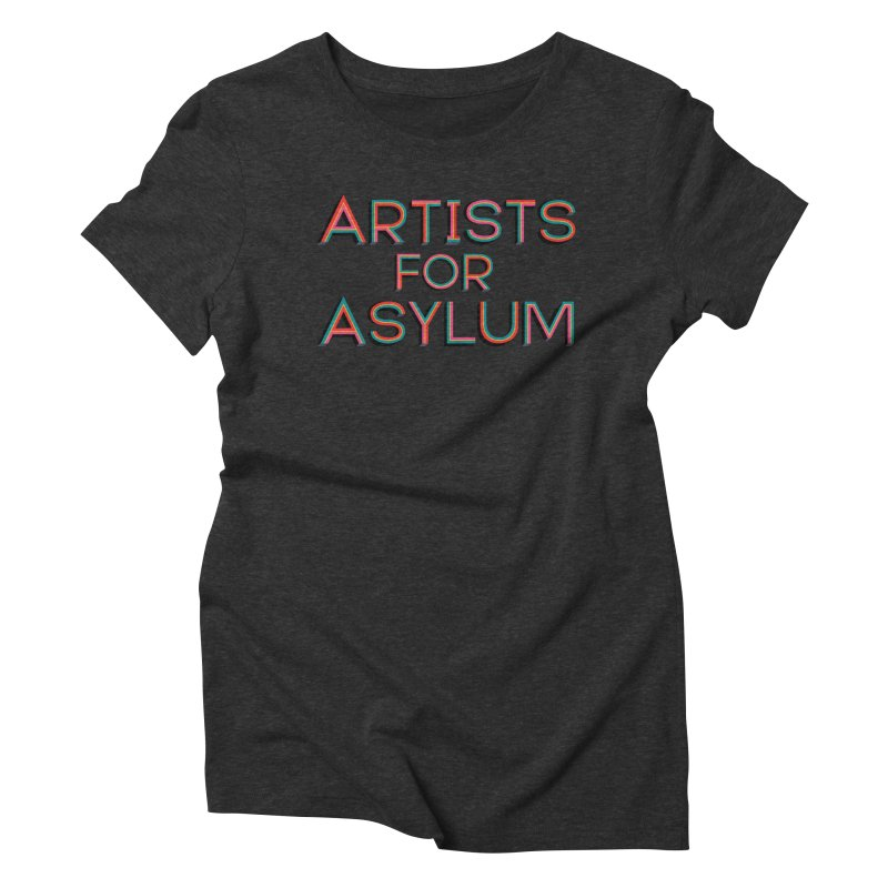 Artists For Asylum Logo Women's Triblend T-Shirt by Artists For Asylum