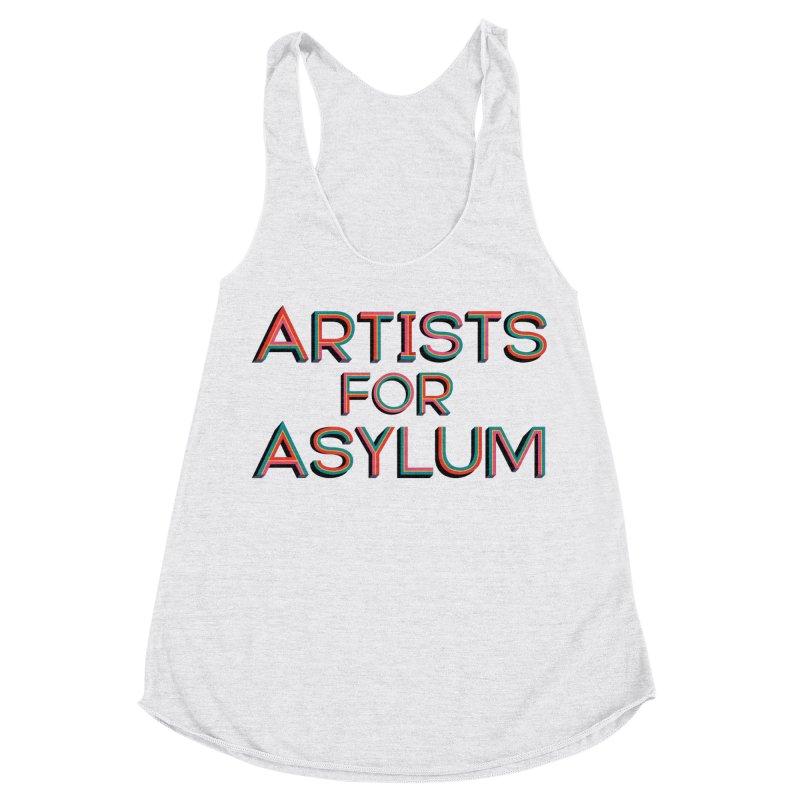 Artists For Asylum Logo Women's Racerback Triblend Tank by Artists For Asylum