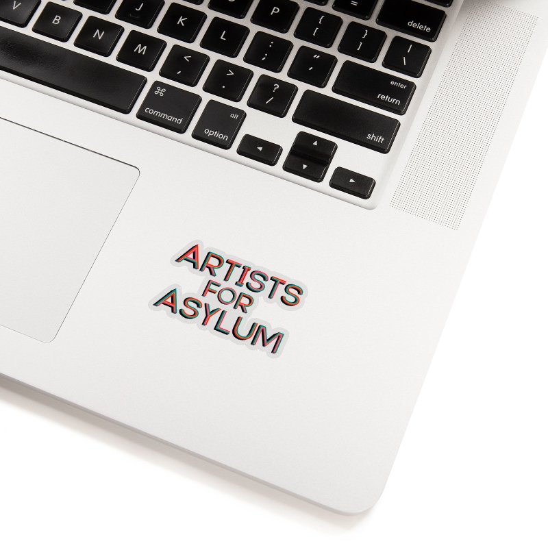 Artists For Asylum Logo Accessories Sticker by Artists For Asylum