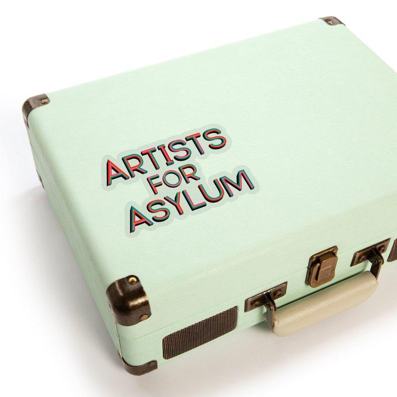 Artists For Asylum Logo Accessories Sticker by Artists For Asylum