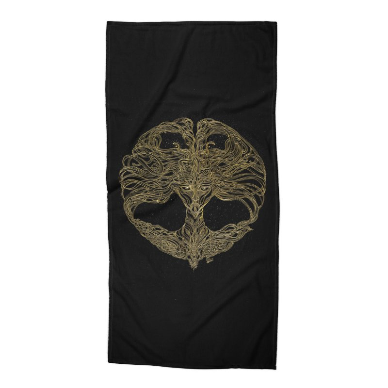 Cosmic Medusa Accessories Beach Towel by artistsjourney's Artist Shop