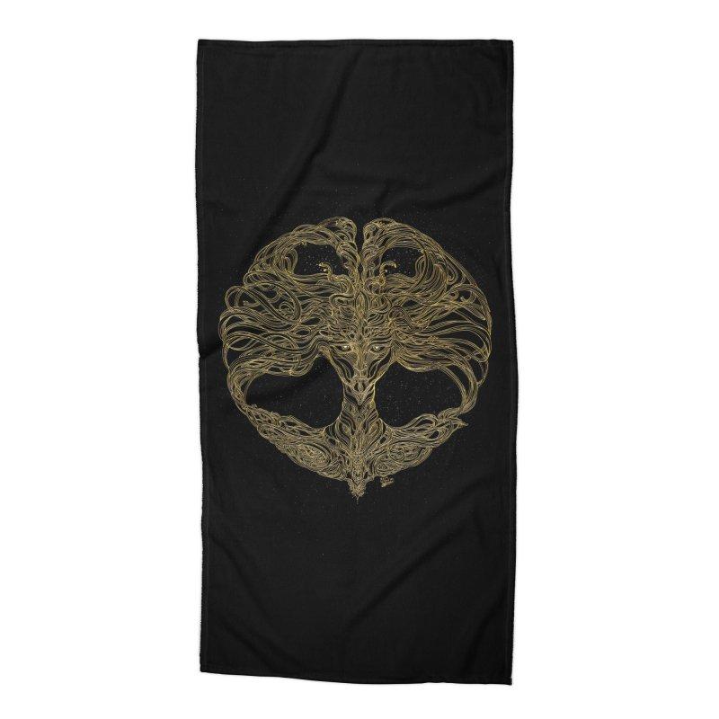 Cosmic Medusa Accessories Beach Towel by artistsjourney's Artist Shop