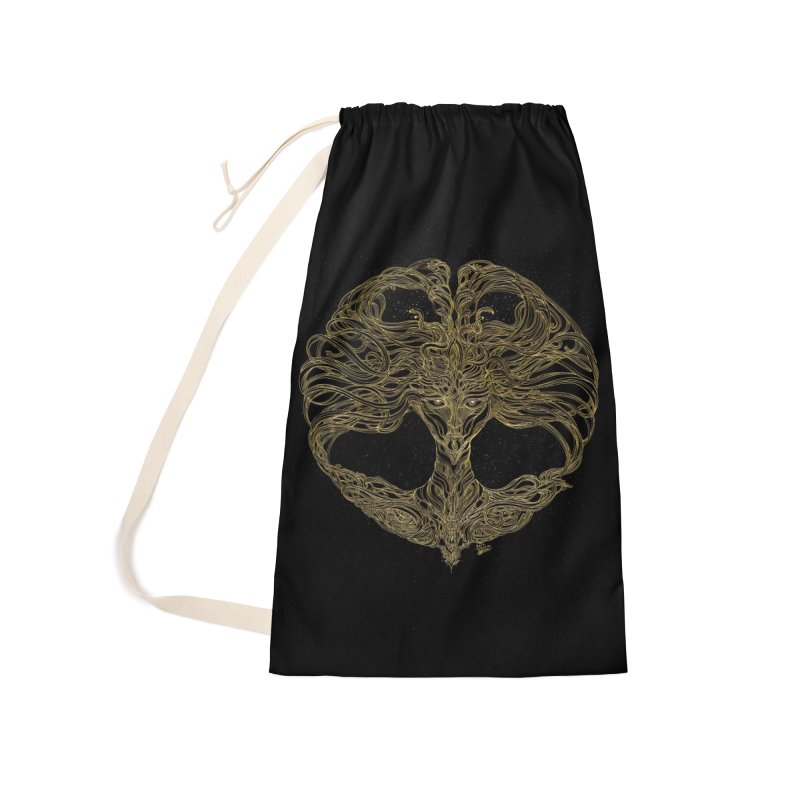 Cosmic Medusa Accessories Laundry Bag Bag by artistsjourney's Artist Shop