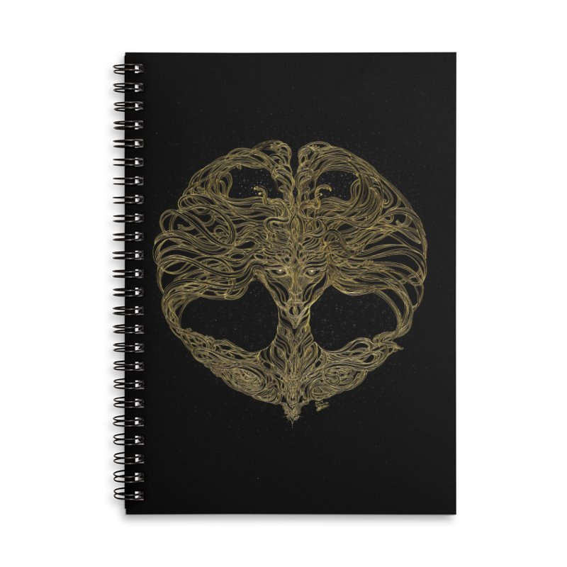 Cosmic Medusa Accessories Lined Spiral Notebook by artistsjourney's Artist Shop
