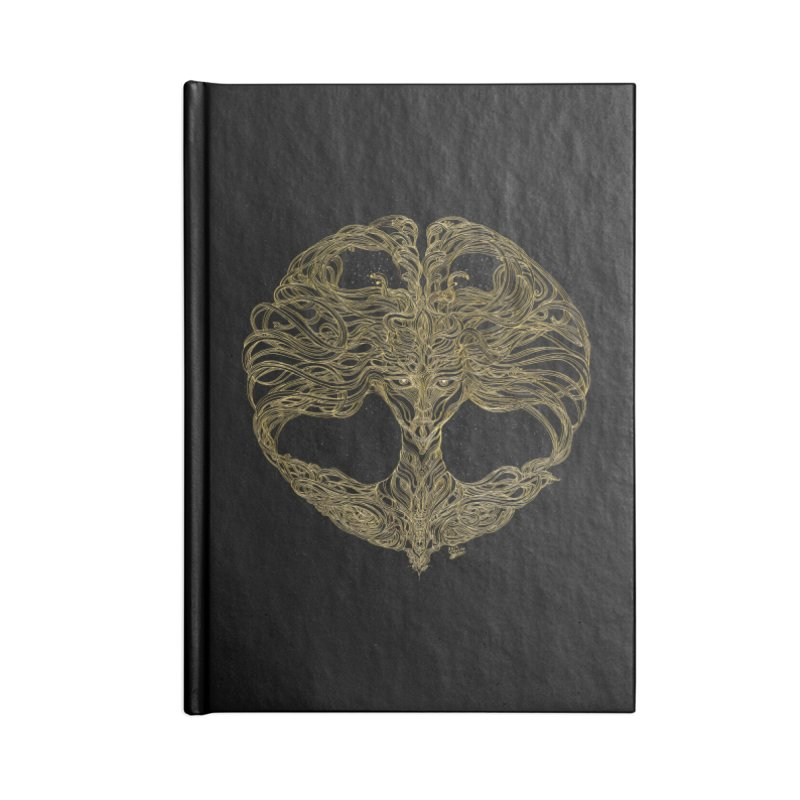 Cosmic Medusa Accessories Lined Journal Notebook by artistsjourney's Artist Shop