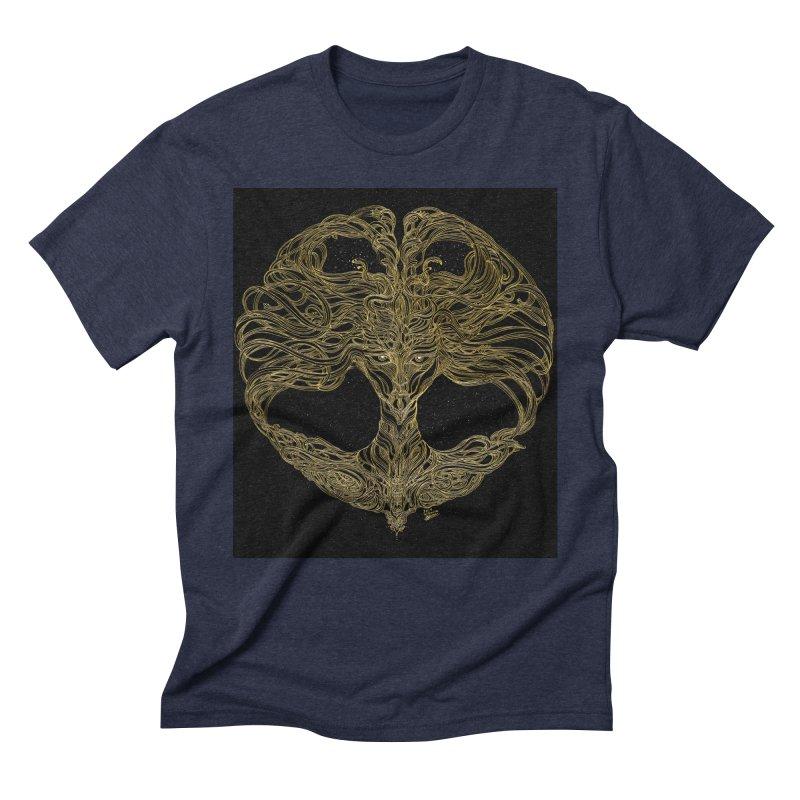 Cosmic Medusa Men's Triblend T-Shirt by artistsjourney's Artist Shop