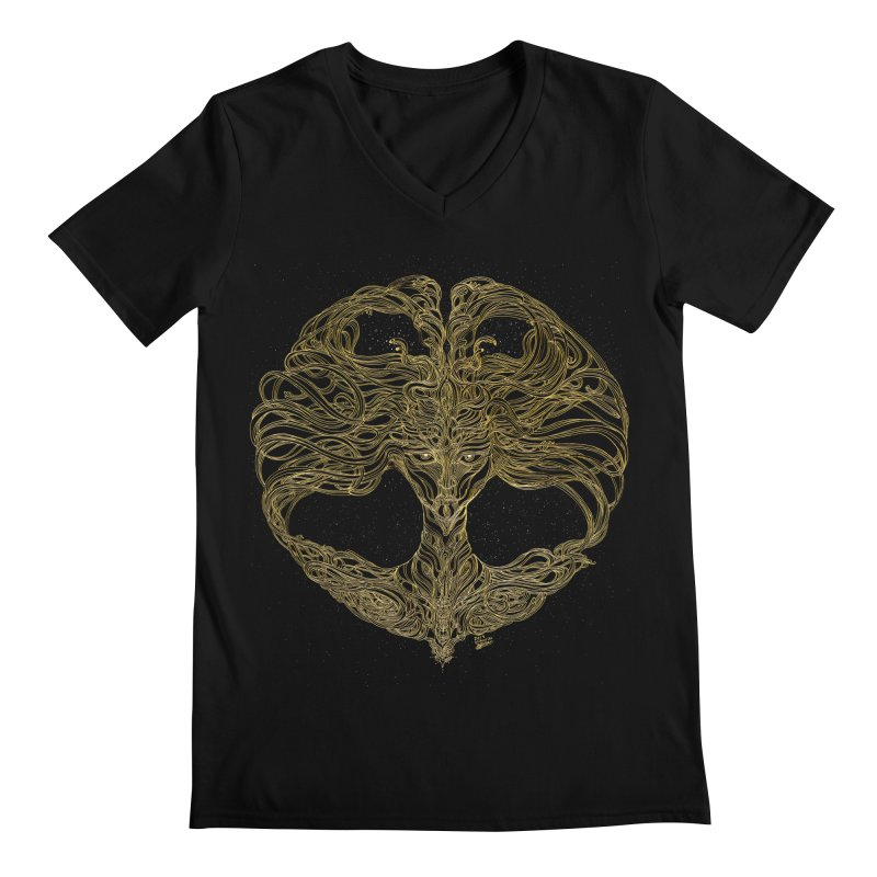 Cosmic Medusa Men's Regular V-Neck by artistsjourney's Artist Shop
