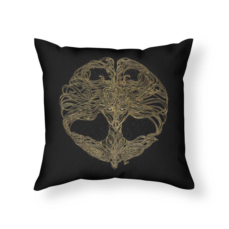 Cosmic Medusa Home Throw Pillow by artistsjourney's Artist Shop