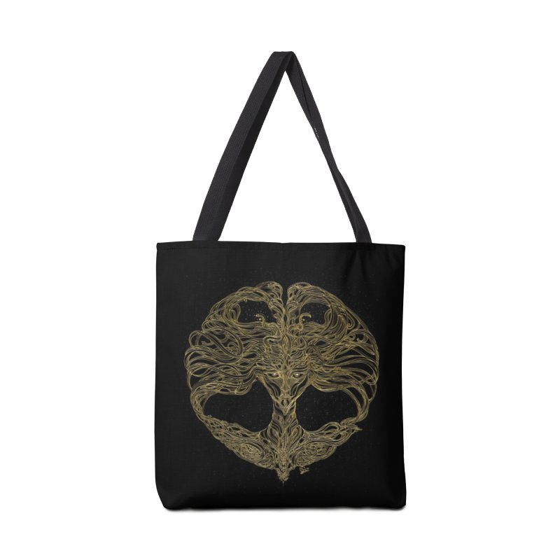 Cosmic Medusa Accessories Tote Bag Bag by artistsjourney's Artist Shop