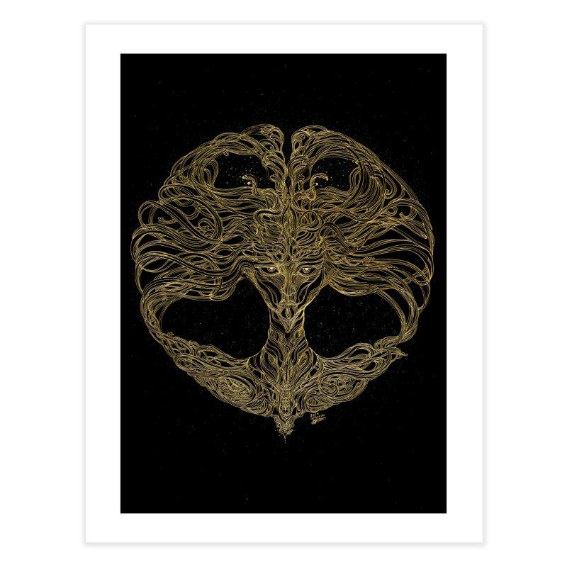 Cosmic Medusa Home Fine Art Print by artistsjourney's Artist Shop