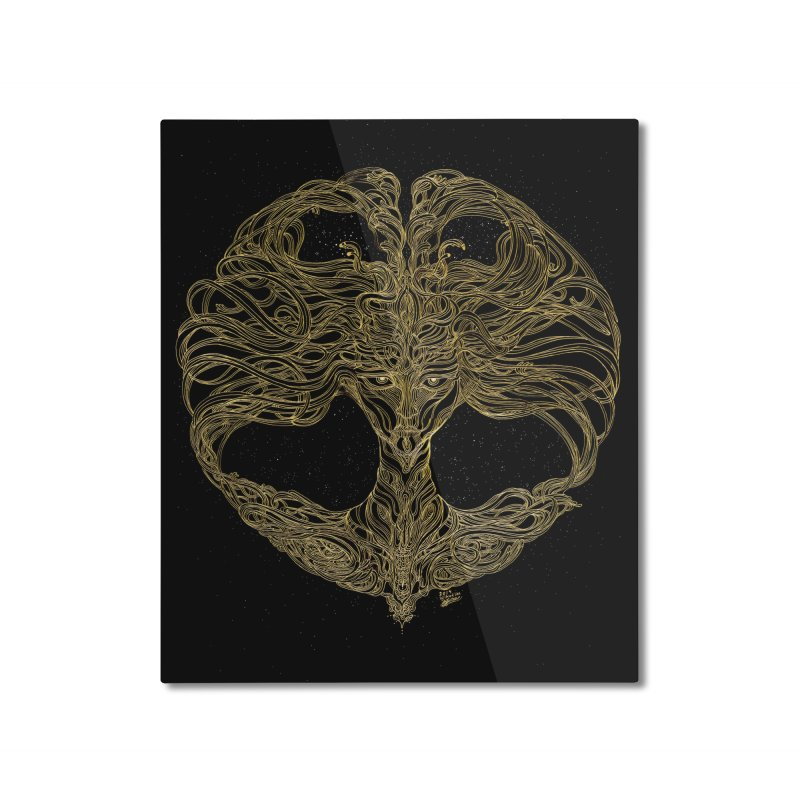 Cosmic Medusa Home Mounted Aluminum Print by artistsjourney's Artist Shop