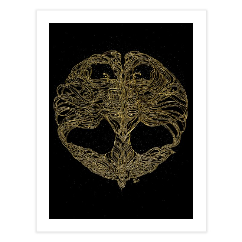 Cosmic Medusa Home Fine Art Print by artistsjourney's Artist Shop