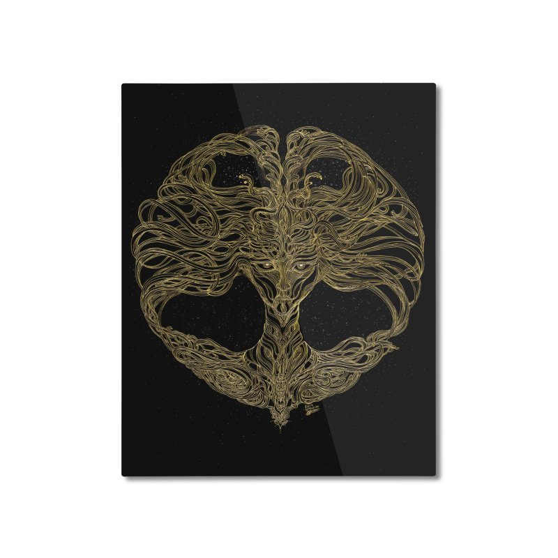 Cosmic Medusa Home Mounted Aluminum Print by artistsjourney's Artist Shop