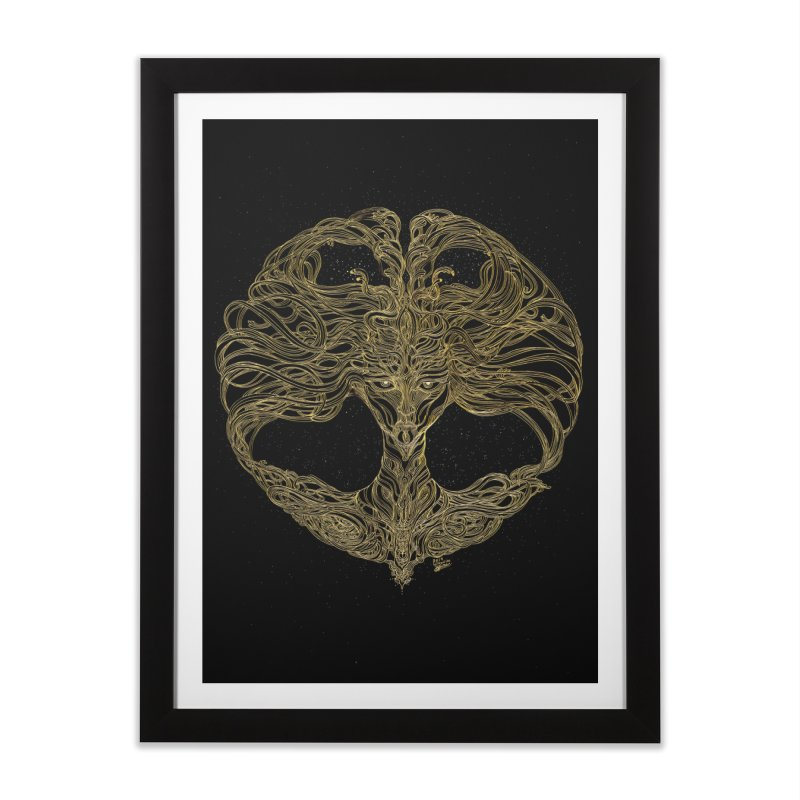 Cosmic Medusa Home Framed Fine Art Print by artistsjourney's Artist Shop