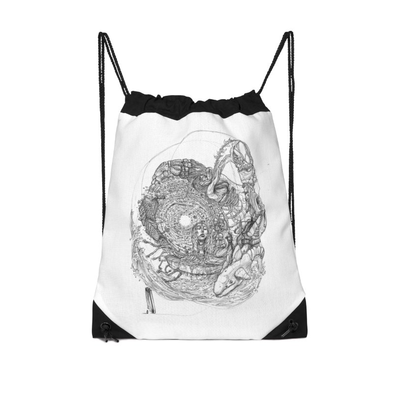 Web of Dreams || Pareidolia Accessories Drawstring Bag Bag by artistsjourney's Artist Shop