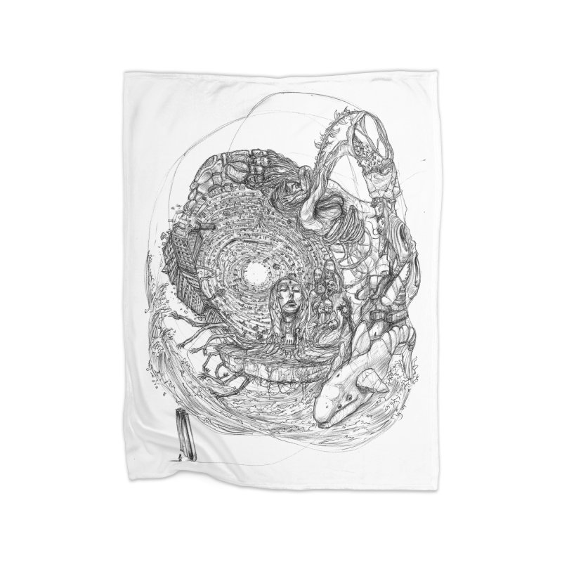 Web of Dreams || Pareidolia Home Fleece Blanket Blanket by artistsjourney's Artist Shop