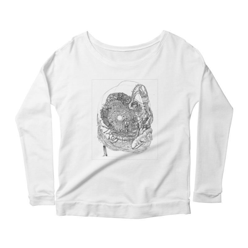 Web of Dreams || Pareidolia Women's Scoop Neck Longsleeve T-Shirt by artistsjourney's Artist Shop