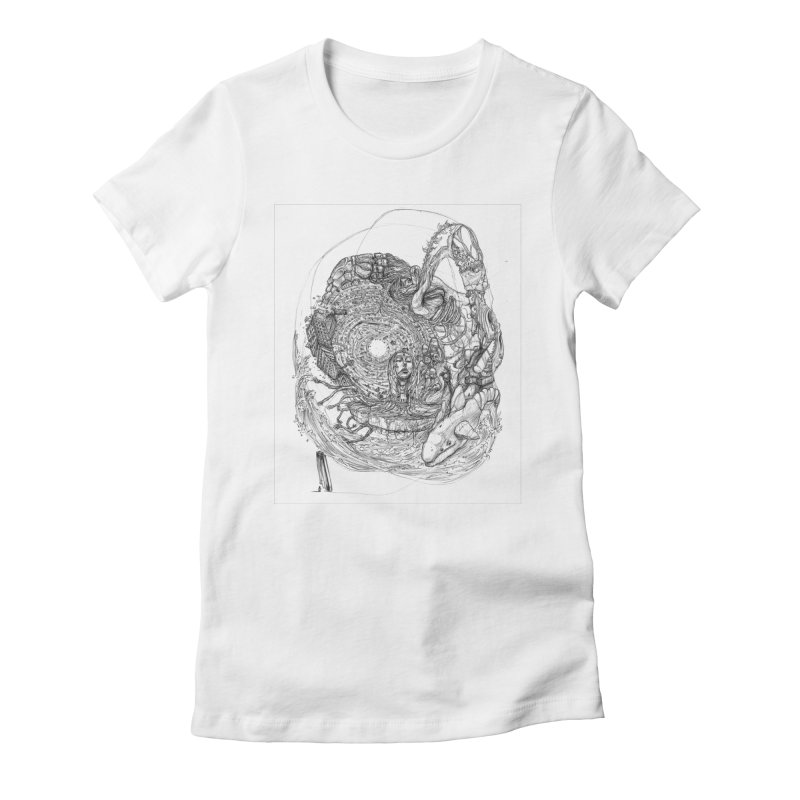 Web of Dreams || Pareidolia Women's Fitted T-Shirt by artistsjourney's Artist Shop