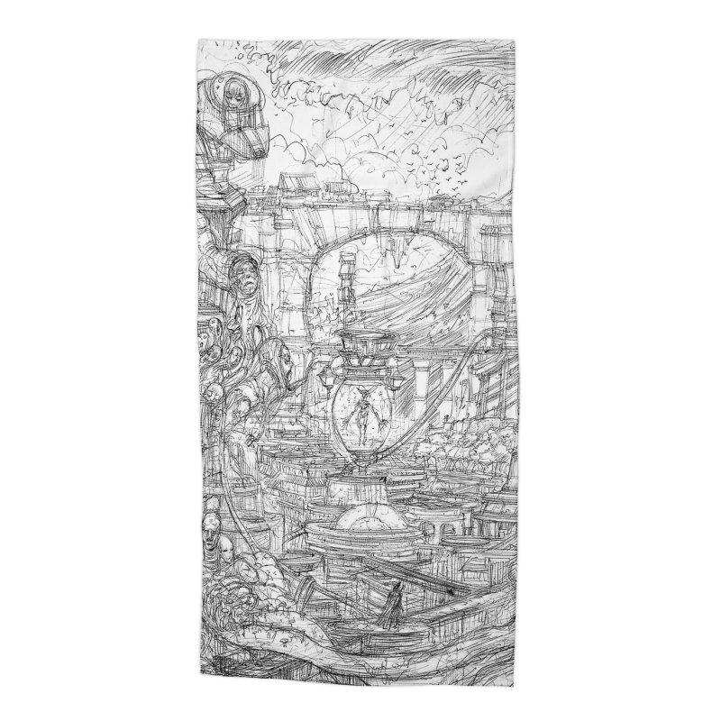 Enter The New Void || Pareidolia Drawing Accessories Beach Towel by artistsjourney's Artist Shop