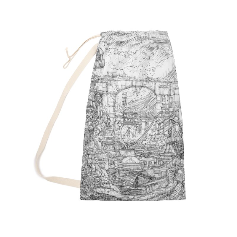Enter The New Void || Pareidolia Drawing Accessories Laundry Bag Bag by artistsjourney's Artist Shop
