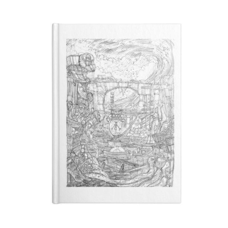 Enter The New Void || Pareidolia Drawing Accessories Lined Journal Notebook by artistsjourney's Artist Shop
