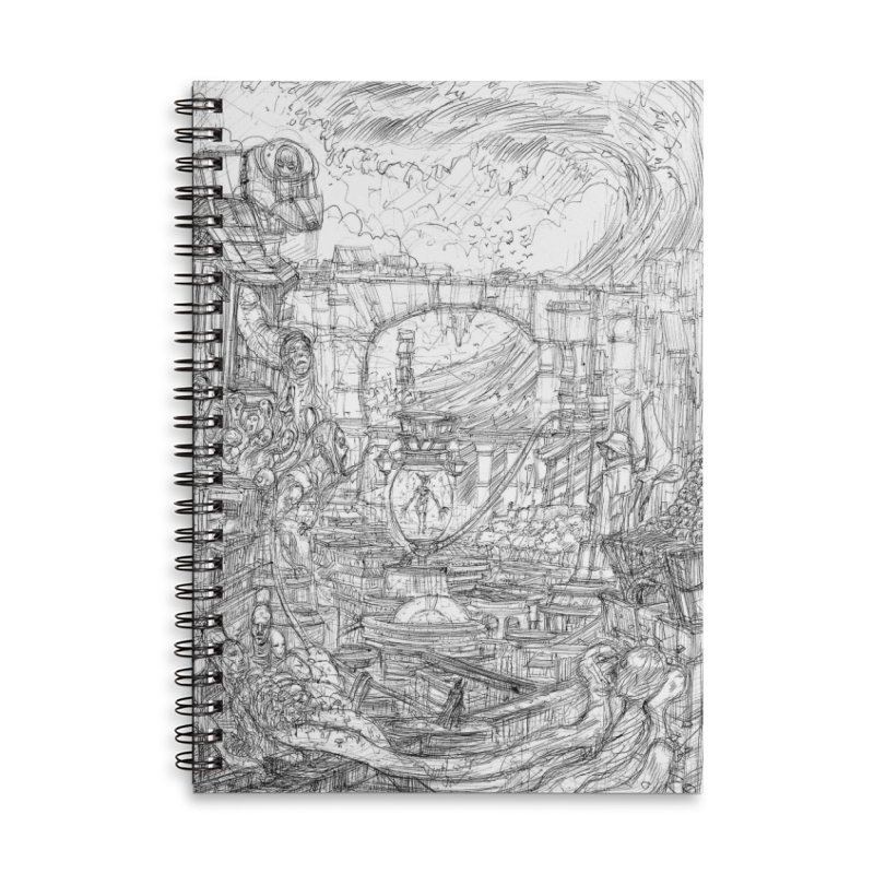 Enter The New Void || Pareidolia Drawing Accessories Lined Spiral Notebook by artistsjourney's Artist Shop