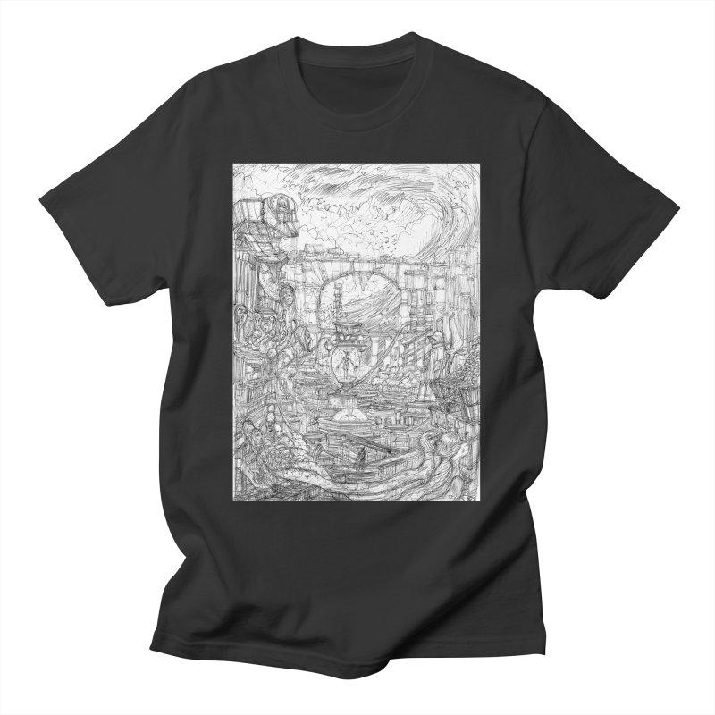 Enter The New Void    Pareidolia Drawing Men's T-Shirt by artistsjourney's Artist Shop