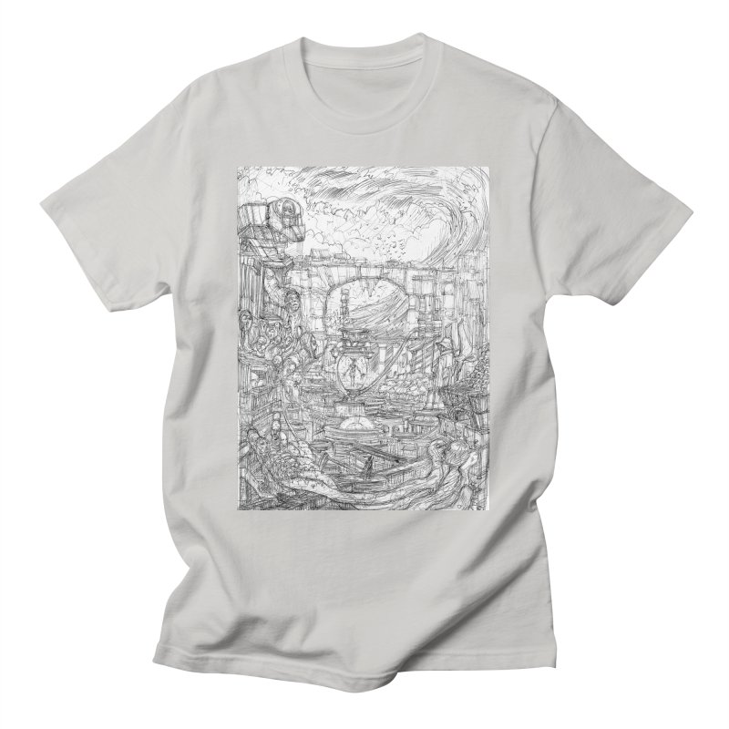 Enter The New Void || Pareidolia Drawing Men's T-Shirt by artistsjourney's Artist Shop