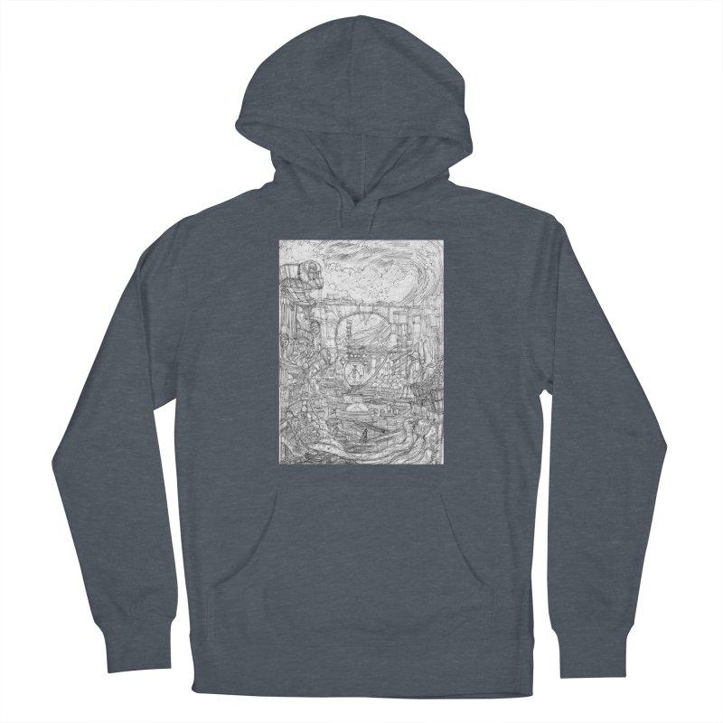 Enter The New Void    Pareidolia Drawing Men's Pullover Hoody by artistsjourney's Artist Shop