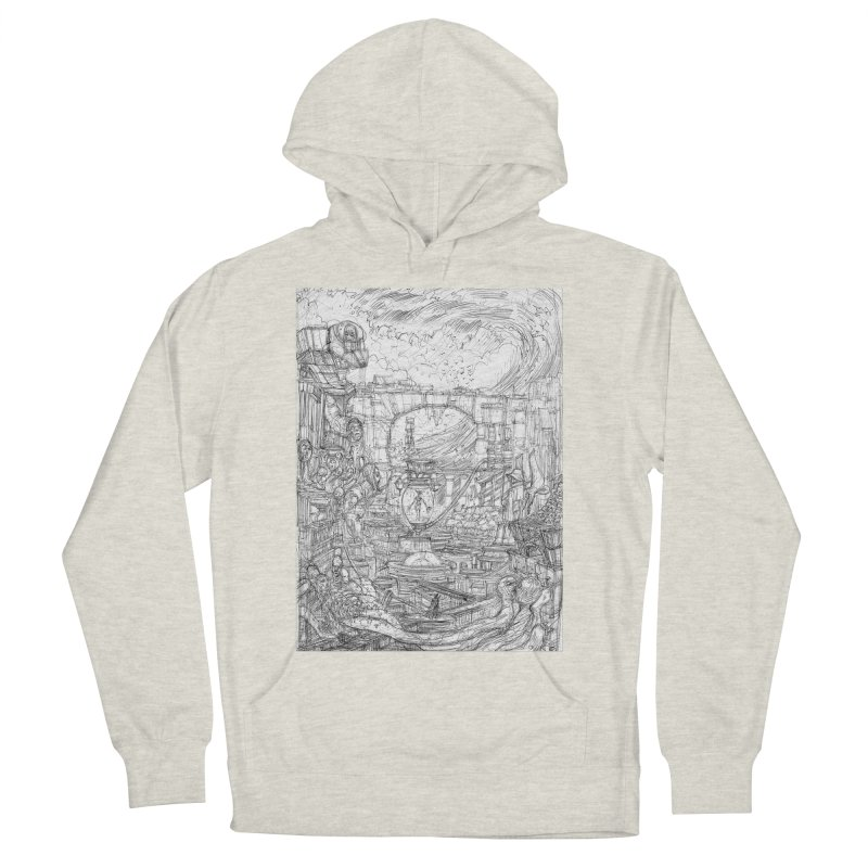 Enter The New Void || Pareidolia Drawing Women's French Terry Pullover Hoody by artistsjourney's Artist Shop