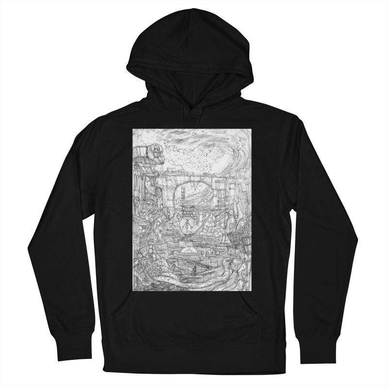 Enter The New Void || Pareidolia Drawing Men's French Terry Pullover Hoody by artistsjourney's Artist Shop