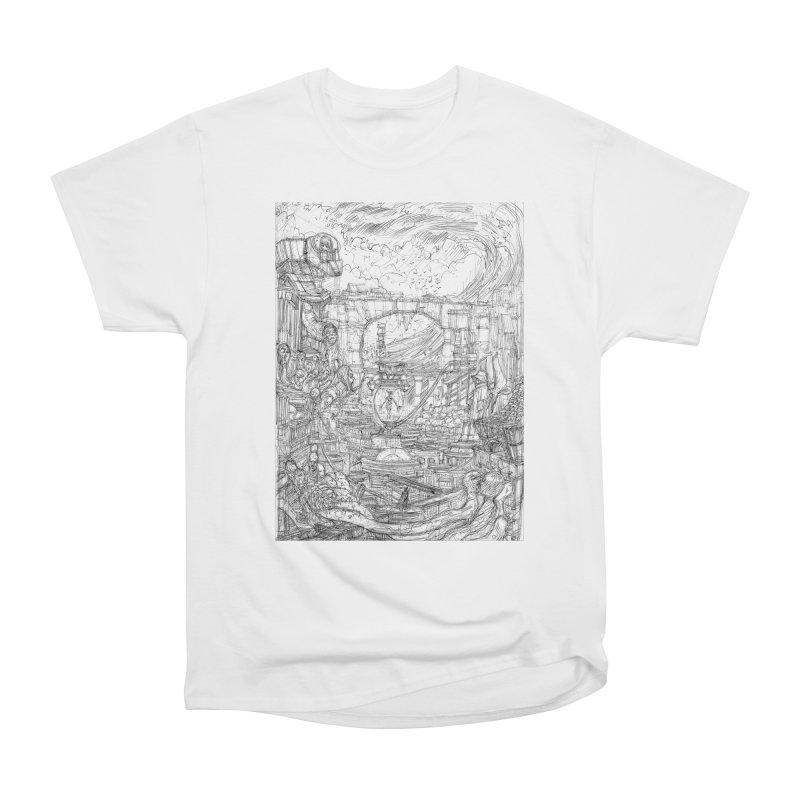 Enter The New Void || Pareidolia Drawing Men's Heavyweight T-Shirt by artistsjourney's Artist Shop