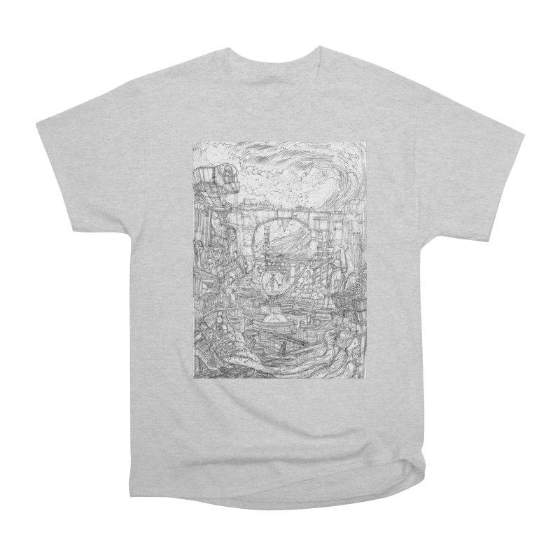 Enter The New Void || Pareidolia Drawing Women's Heavyweight Unisex T-Shirt by artistsjourney's Artist Shop
