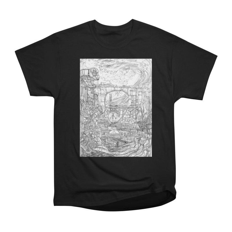Enter The New Void    Pareidolia Drawing Women's Heavyweight Unisex T-Shirt by artistsjourney's Artist Shop